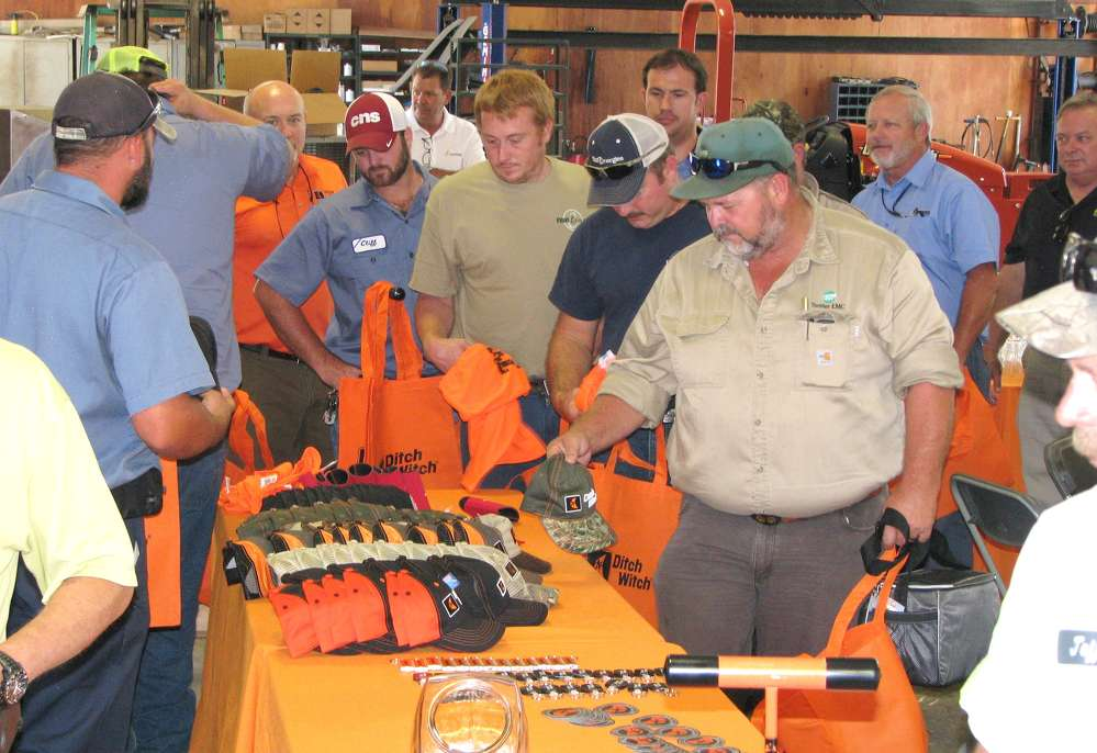 Customers flood the Ditch Witch of Georgia Albany, Ga., branch for some great giveaways and a catered lunch on Sept. 15.