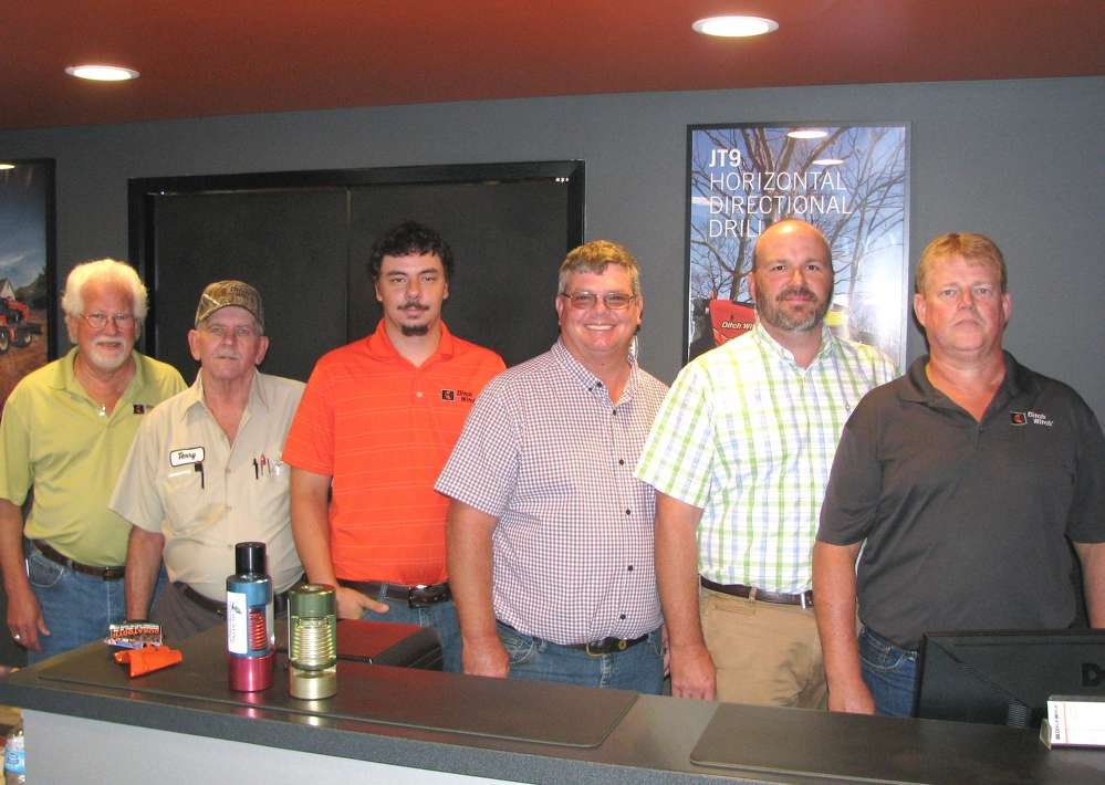 Staff members of the Ditch Witch of Georgia, Albany, Ga., (L-R) are Ricky McCrary, branch manager; Terry Hancock, mechanic; Richard Morefield, mechanic; Gary Morris, sales representative; Todd Human, sales representative; and Mike Holton, parts sales representative.