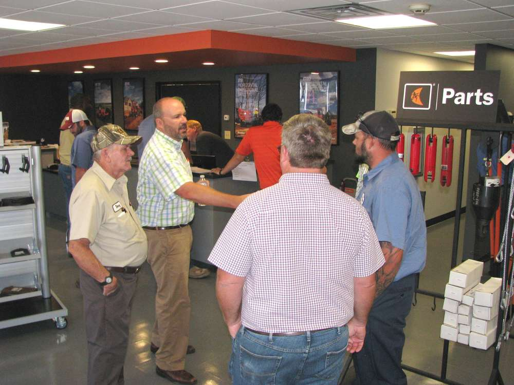 The showroom and parts counter area underwent a complete renovation.