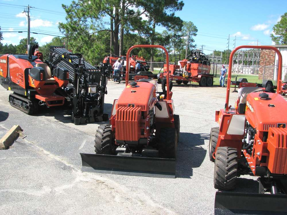 An array of Ditch Witch products were on the yard during the event.