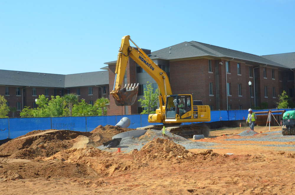 Reginald Christian photo. After  years of planning and negotiations, work has finally begun on the $25 million Fine Arts Center at Albany State University (ASU) in Albany, Ga.