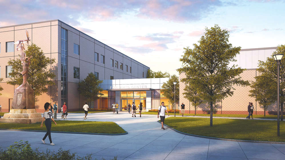 A rendering of the completed Fine Arts Center at Albany State University.