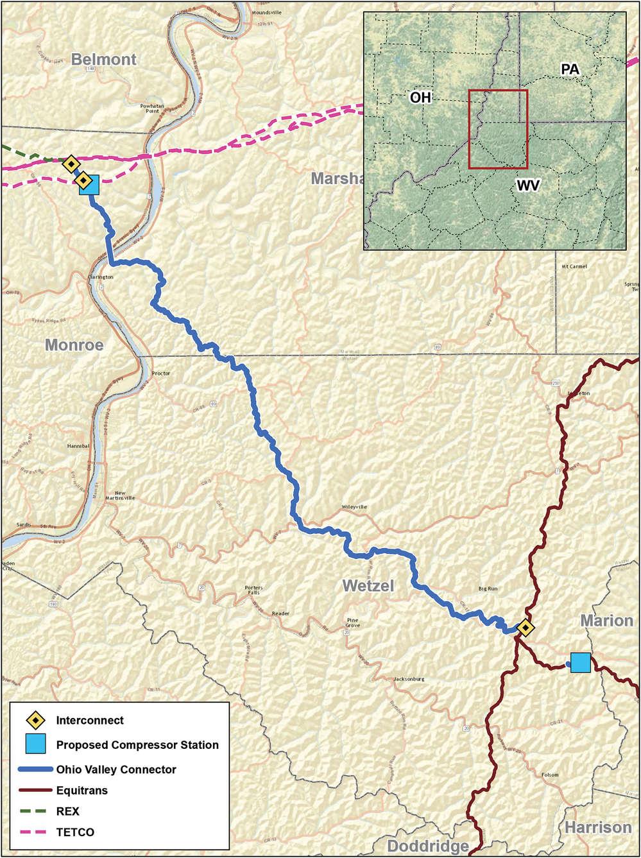 Ohio Valley Connector (DAPL) photo.  Ohio Valley Connector.