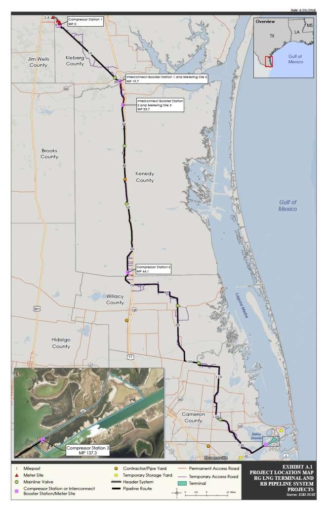 Rio Grande LNG photo. Rio Bravo Pipeline.