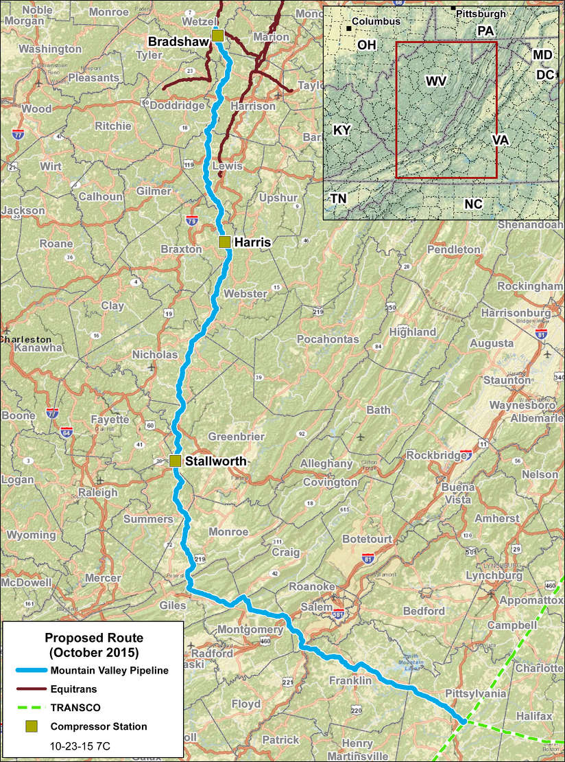 Mountain Valley Pipeline photo. Mountain Valley Pipeline.