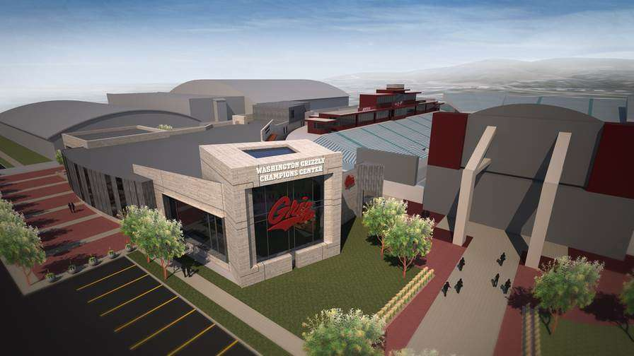 The new $14 million Washington-Grizzly Champions Center will offer new locker rooms for the football team and a state-of-the-art strength and conditioning center to be used by all athletes.