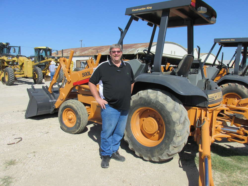 Allen Blakeman of Blakeman Steel, Haltom City, Texas, hopes to bid on this Case 580L loader/backhoe.