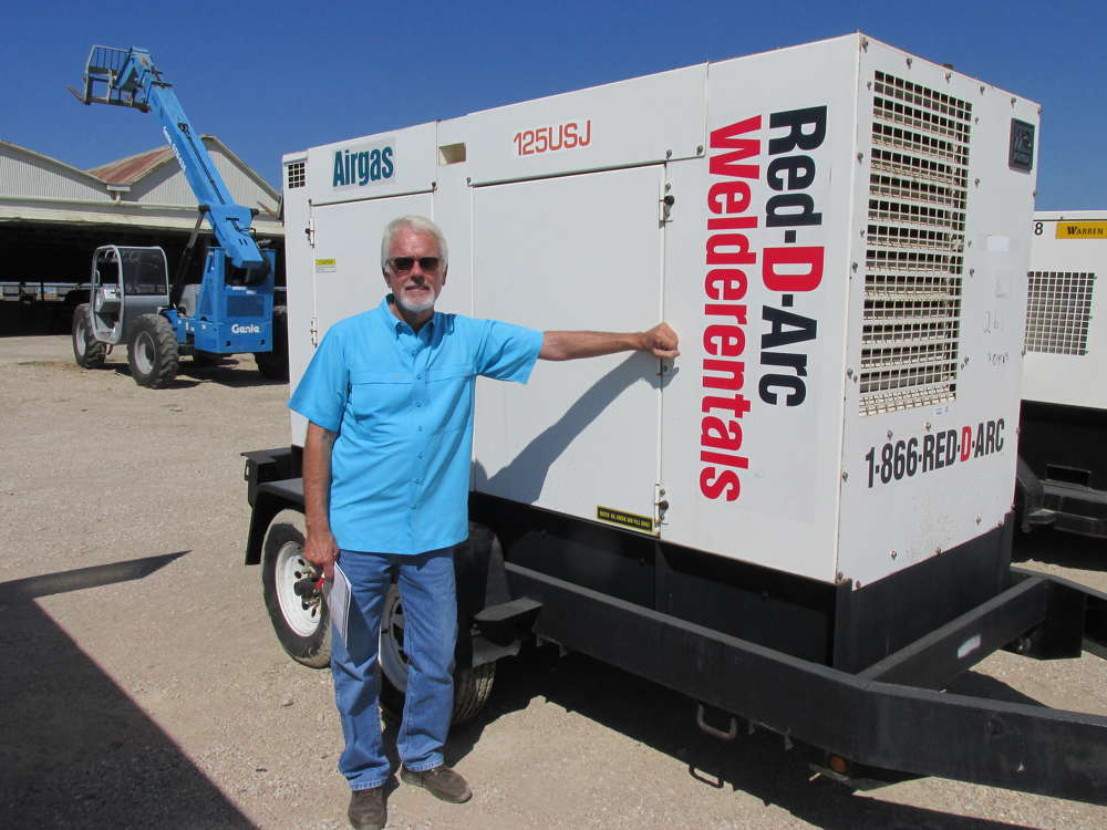 Jerry Watkins of Watkins Construction in Corsicana, Texas, thinks this WhisperWatt AC generator will be great to have for welding.