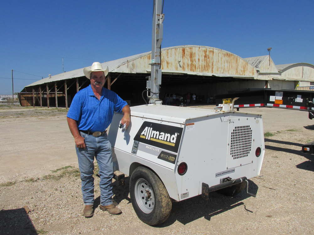 Pat McCurdy, an independent contractor of Decatur, Texas, thinks this Allmand MixiLight will be just the thing for when the days start getting shorter.