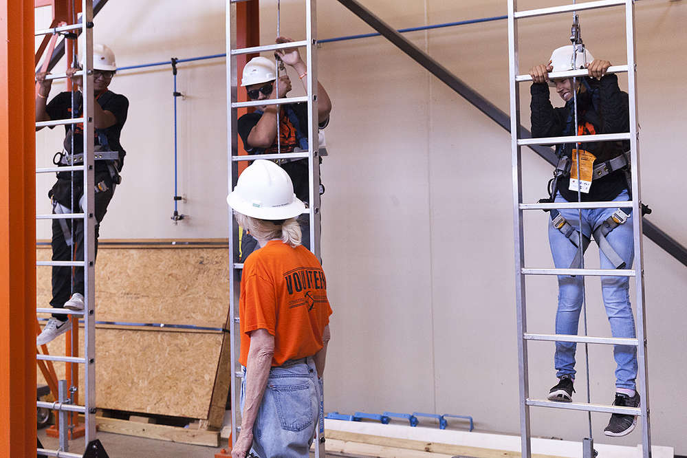 "High School students enjoy an interactive experience at the 15th Annual Construction Career Day, called ""Tools to Build Your Future"" hosted by Oklahoma Department of Transportation and multiple industry leaders. The event offered hands-on activities with equipment and opportunities for students to talk about jobs in construction-related fields."