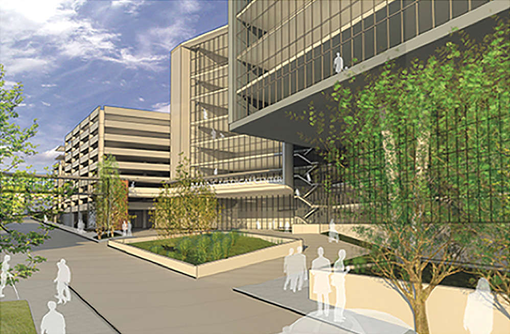 The project creates an opportunity to reorient the hospital's main entrance to Congress Street, one of the city's main thoroughfares.