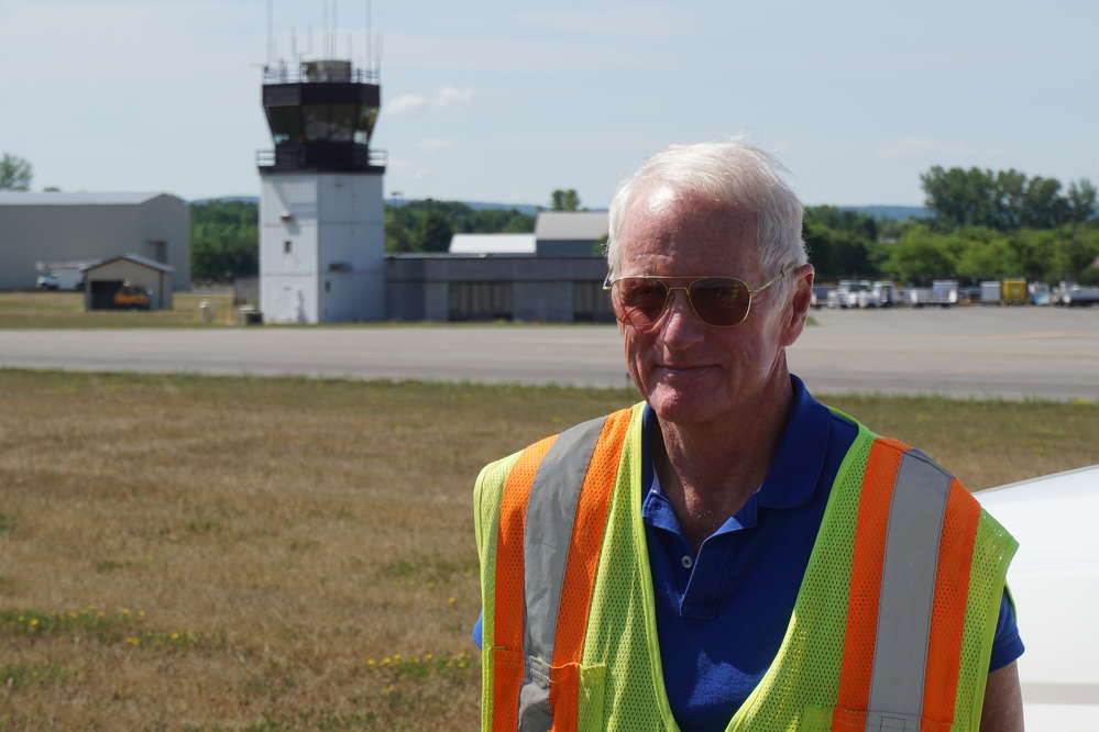 Airport Manager Mike Hall.