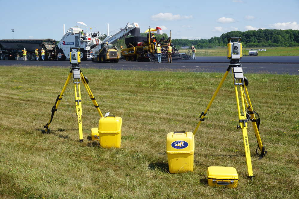 Multiple Trimble SPS930 universal total stations were used to cover the span of the 7,000 ft. (2,133 m) runway.