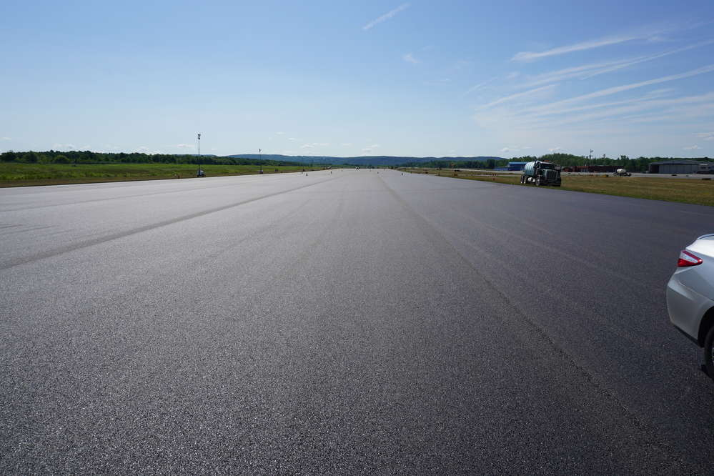 The finished runway — 6,977 by 150 ft. (2,126 by 45.7 m).