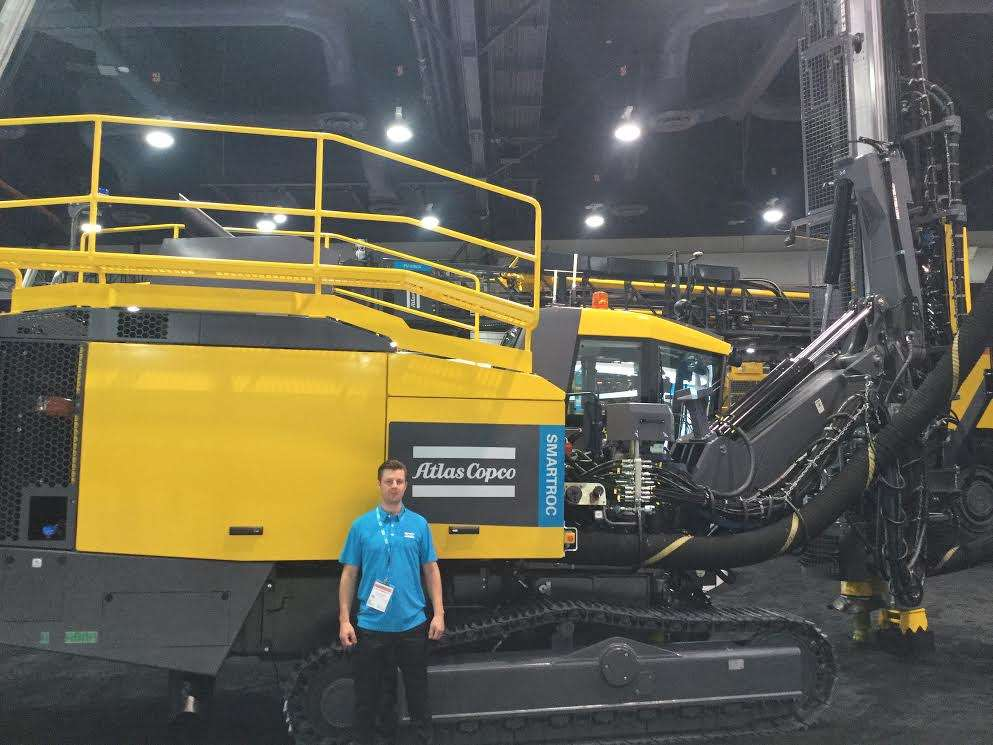 Nicklas Berggren, senior engineer of Atlas Copco, traveled from Sweden to promote the new Smartroc series.