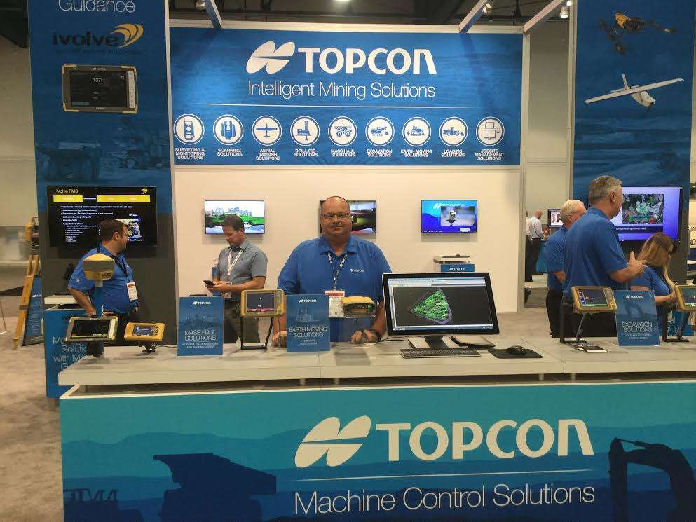 Topcon Positioning Systems exhibited in the Center Hall with Joel Frost, eastern regional sales manager.