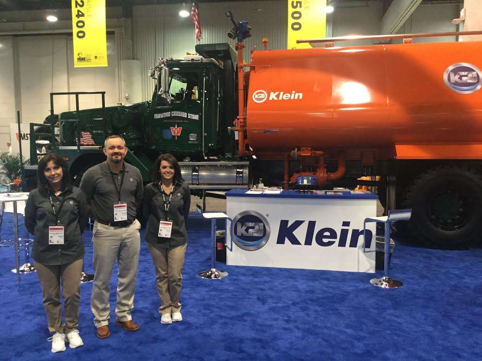 (L-R): Melinda Clayton, Mike Sheppard and Jackie Whitt of Klein Products are ready to share information with attendees.