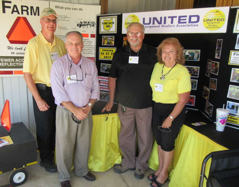 (L-R): Dennis Alford, Kim Rominger and Dave and Linda Kahler, all of the Ohio Michigan Equipment Dealers Association, promote the Ohio Power Show, which is set to be held in Columbus on Jan. 26 to 28.