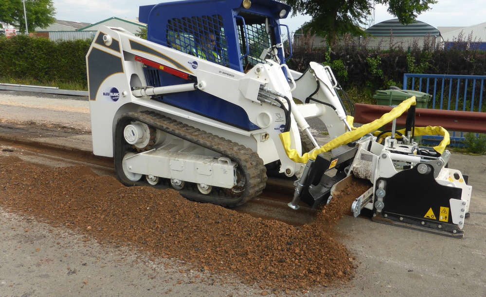 The PL-C planer will run on any brand skid steer with high flow.