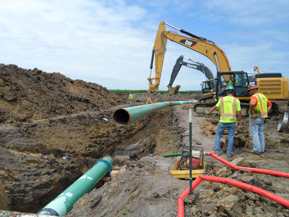The pipeline passes near Standing Rock Sioux reservation land that straddles the North Dakota-South Dakota border.