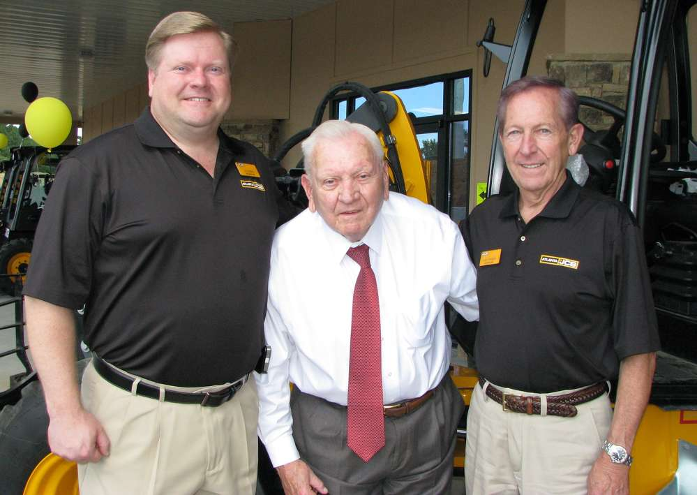 (L-R): Jim, Jimmy and Larry Freeman, owners of Atlanta JCB, put out the welcome mat to showcase the company's newest product offerings.