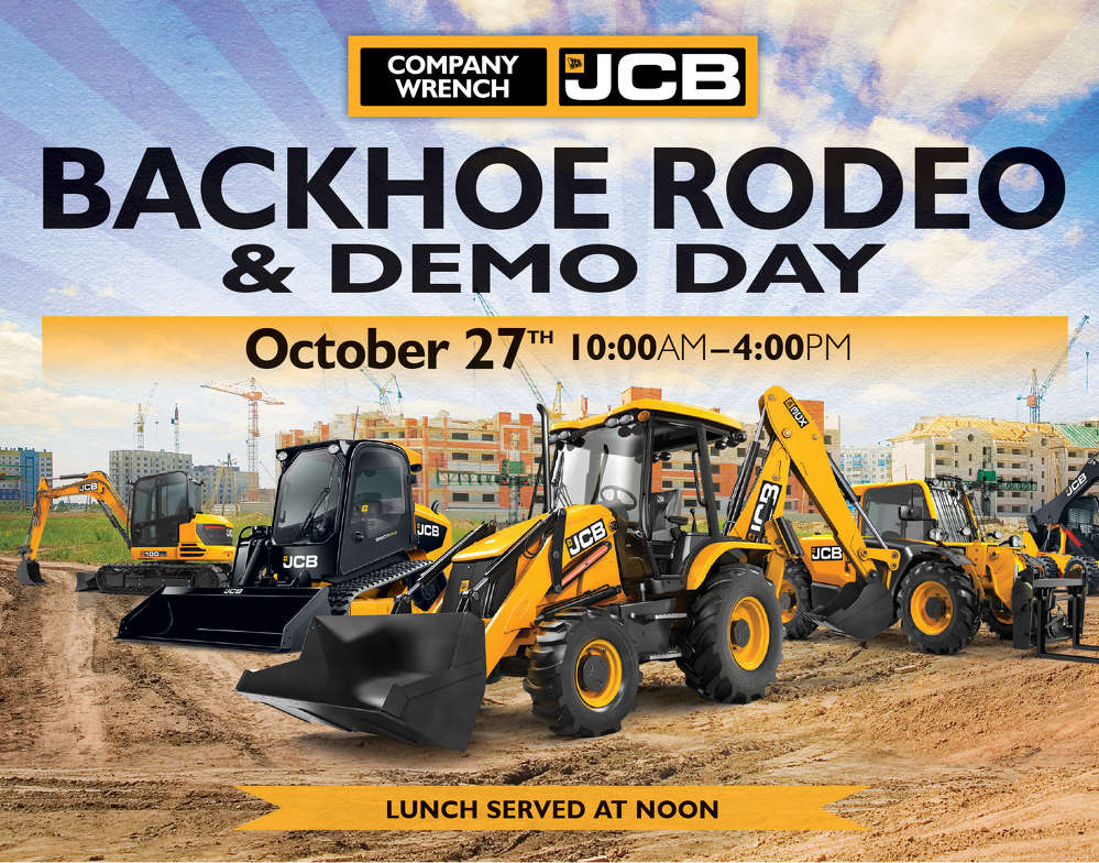 Attendees will see demonstrations of JCB's current product lineup, including track loaders, skid steers and excavators, and will have the chance to operate the machines.