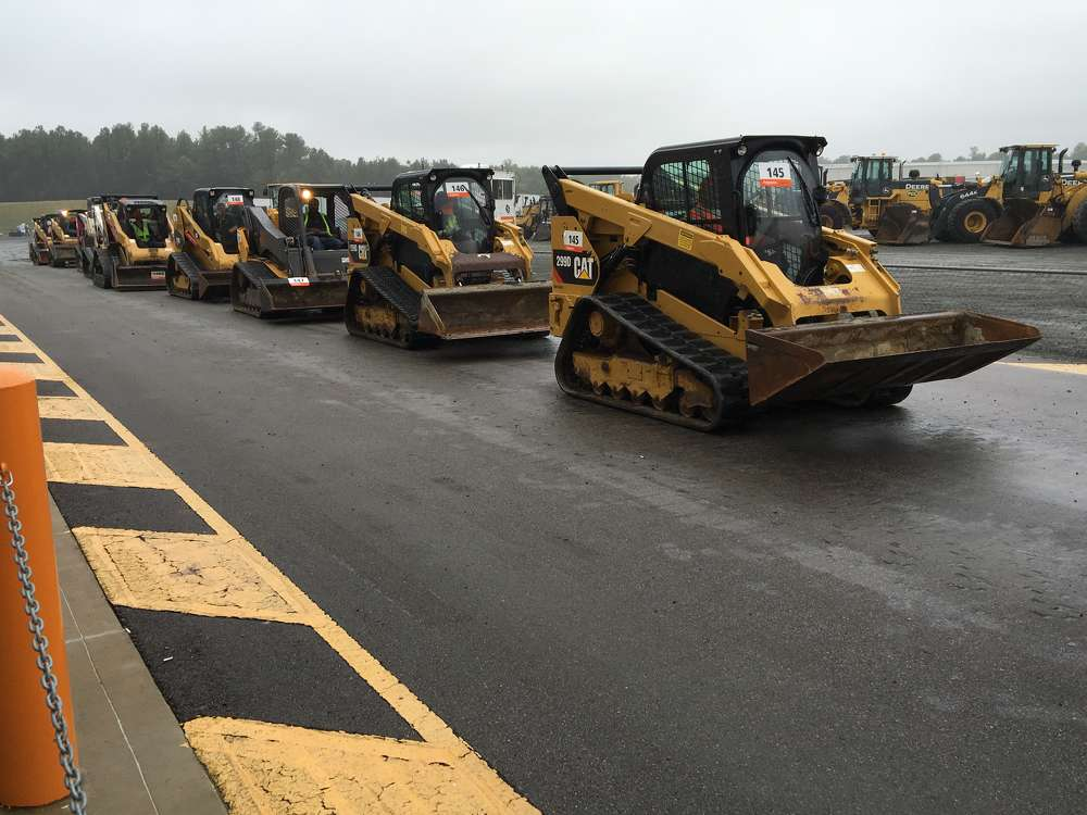 The sale featured a wide selection of Caterpillar and Bobcat compact track loaders.