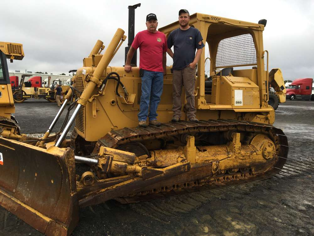 Tune (L) and Adam Devin of Devin Logging in Wylliesburg, Va., need a dozer to maintain the haul roads and thought this Cat D6D would suit their needs.