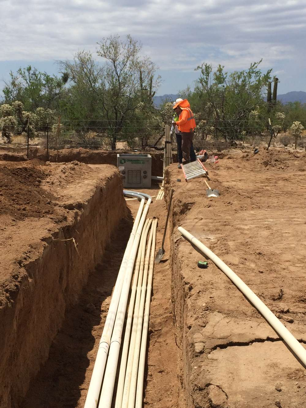 Tom Houle, Town of Marana photo. As a desert parkway, the road design and landscaping will complement the desert scenery.