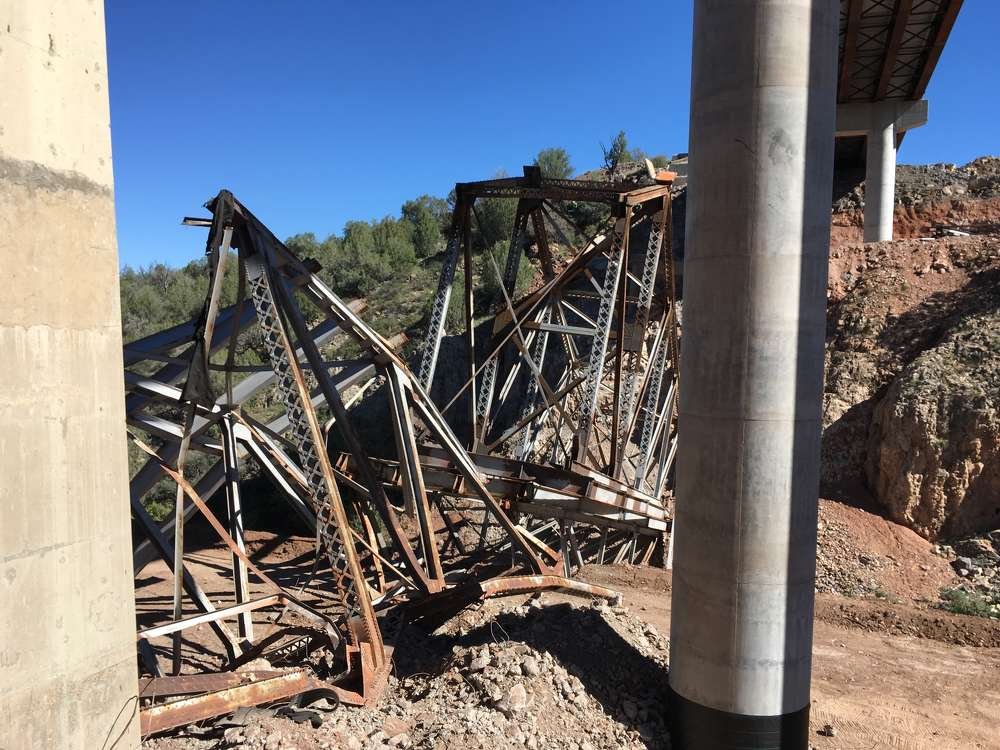 ADOT photo. ADOT replaced the 1954 bridge earlier this year.