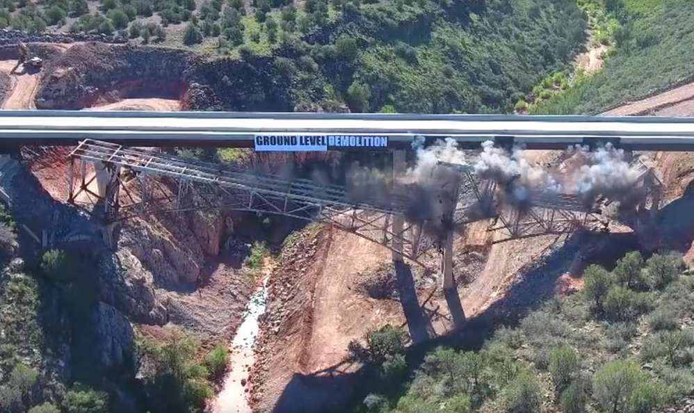 ADOT photo. The new bridge is better able to accommodate commercial traffic, particularly oversized loads.