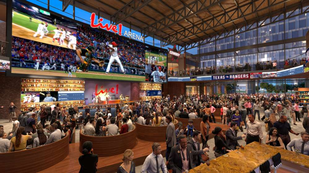Texas Live! photo. Live! Arena, the heartbeat of Texas Live!, is a multi-level, central gathering place comprised of more than  35,000 sq. ft. of best-in-class dining and entertainment options.