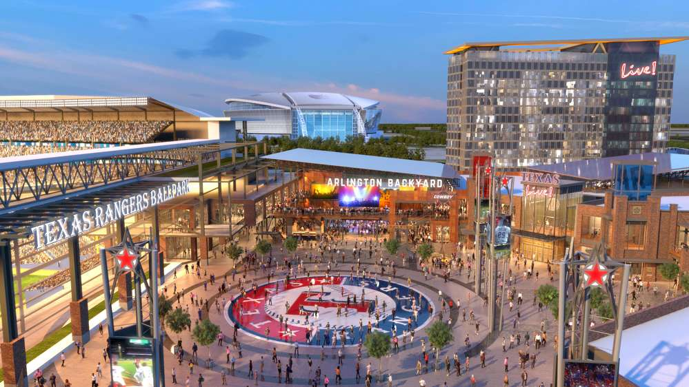 Texas Live! photo. Arlington Backyard will be an incredible amenity and gathering place for the community, fans and visitors.