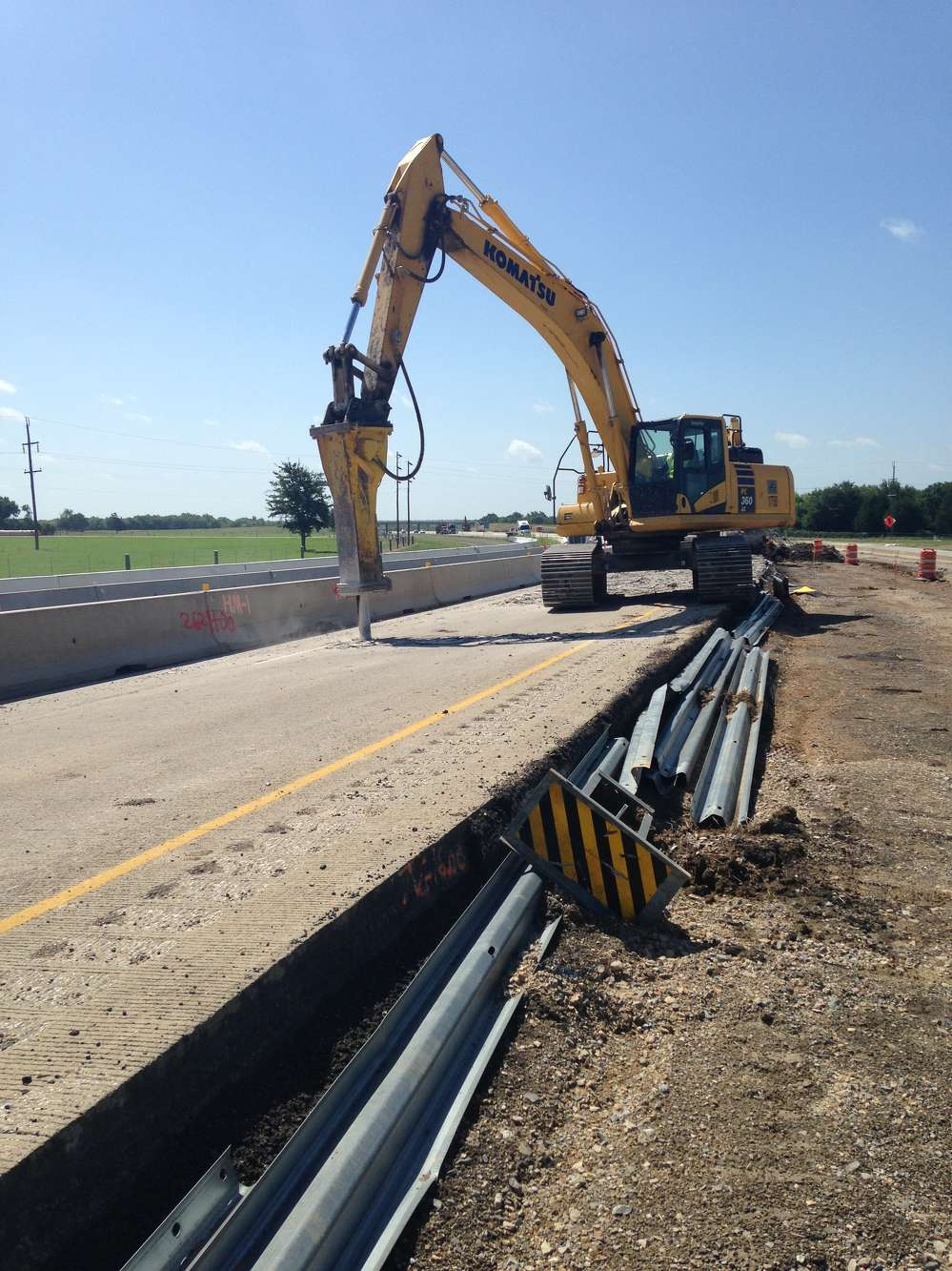 Webber LLC photo.  The three-project highway section starts just north of Corsicana, Texas, and ends at the