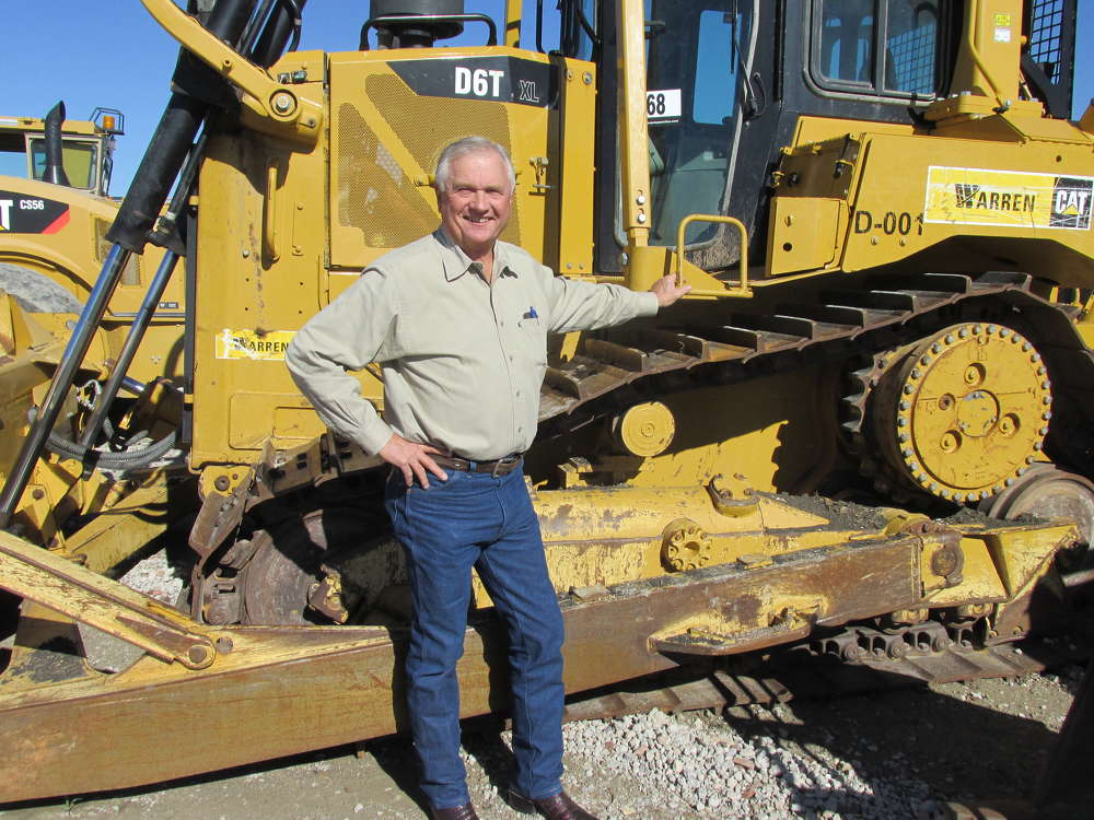 Charles Holubar, Holubar Properties in McKinney, Texas, has just the right spot for this Cat D6 on his ranch in south Texas.