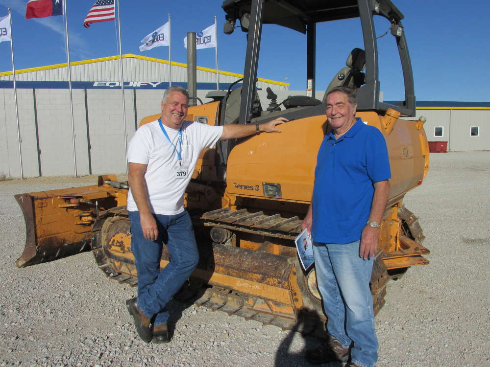 Maurry Wells (L) and his father, Cecil, independent contractors in Arlington, Texas, think this Case 650K dozer may work just fine for an upcoming project.