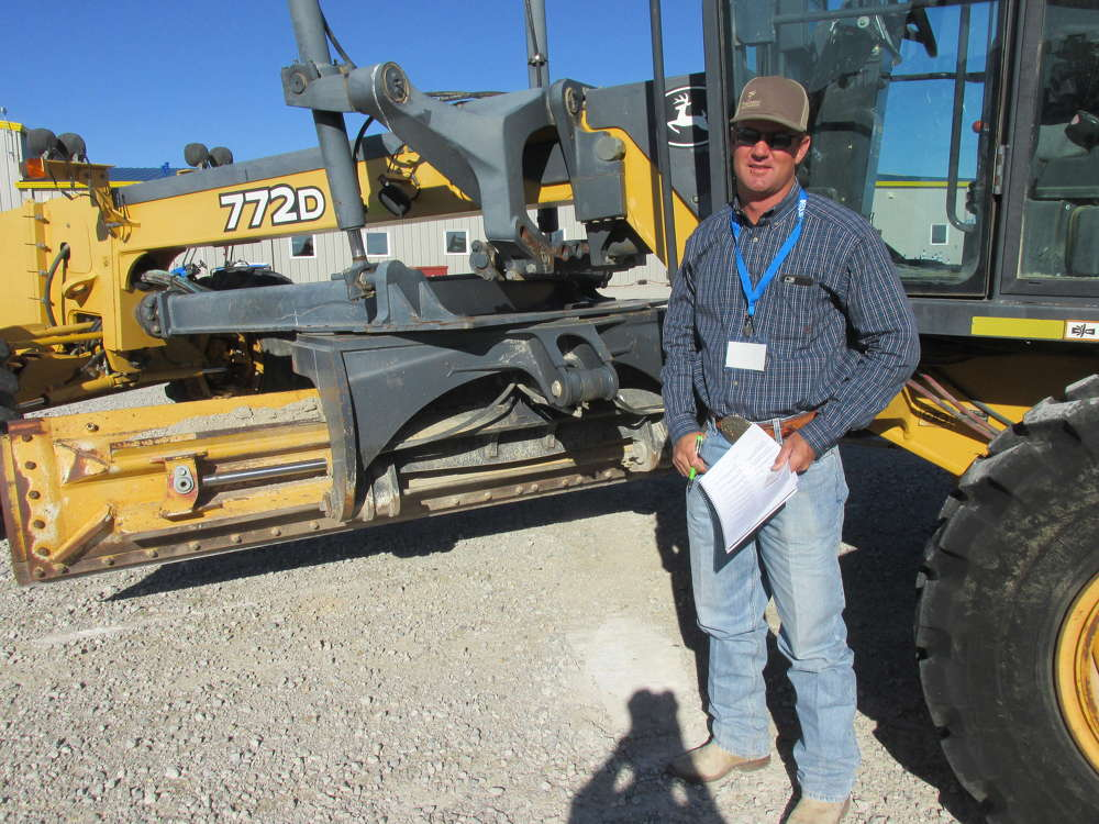 Tallian Thompson, Thompson Field Services in Midland, Texas, knows he has the perfect project for this John Deere 772D motorgrader.