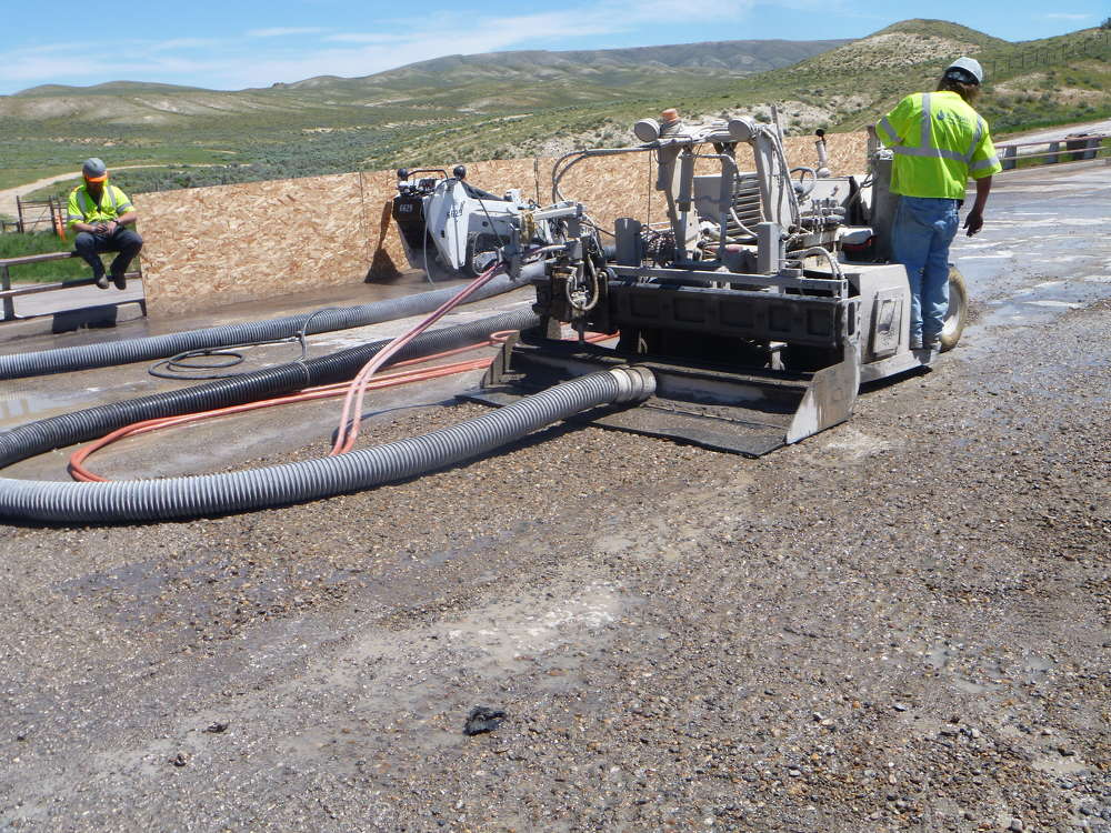 Work is under way on a repaving and bridge rehabilitation project of more than 6 mi. (9.7 km) of I-80 in southern Wyoming.