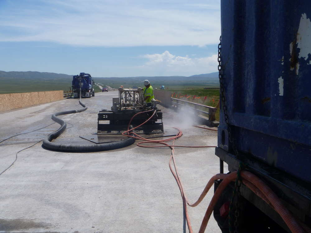 Crews also will be using hydro-demolition on the bridge deck to take out all unsound or weaker concrete before doing the overlay.
