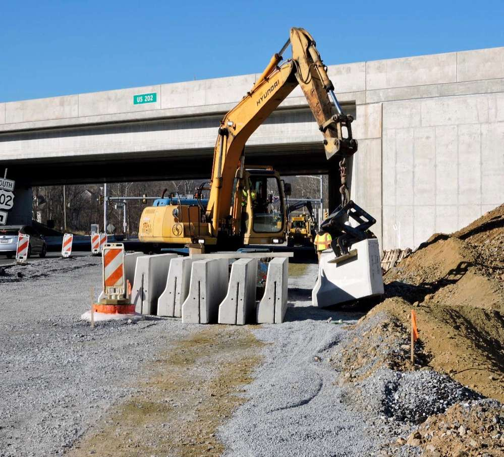 PennDOT photo.The final contract ($63.4 million) for the work — Section 330, awarded to Allan A. Myers LP began in April 2013.