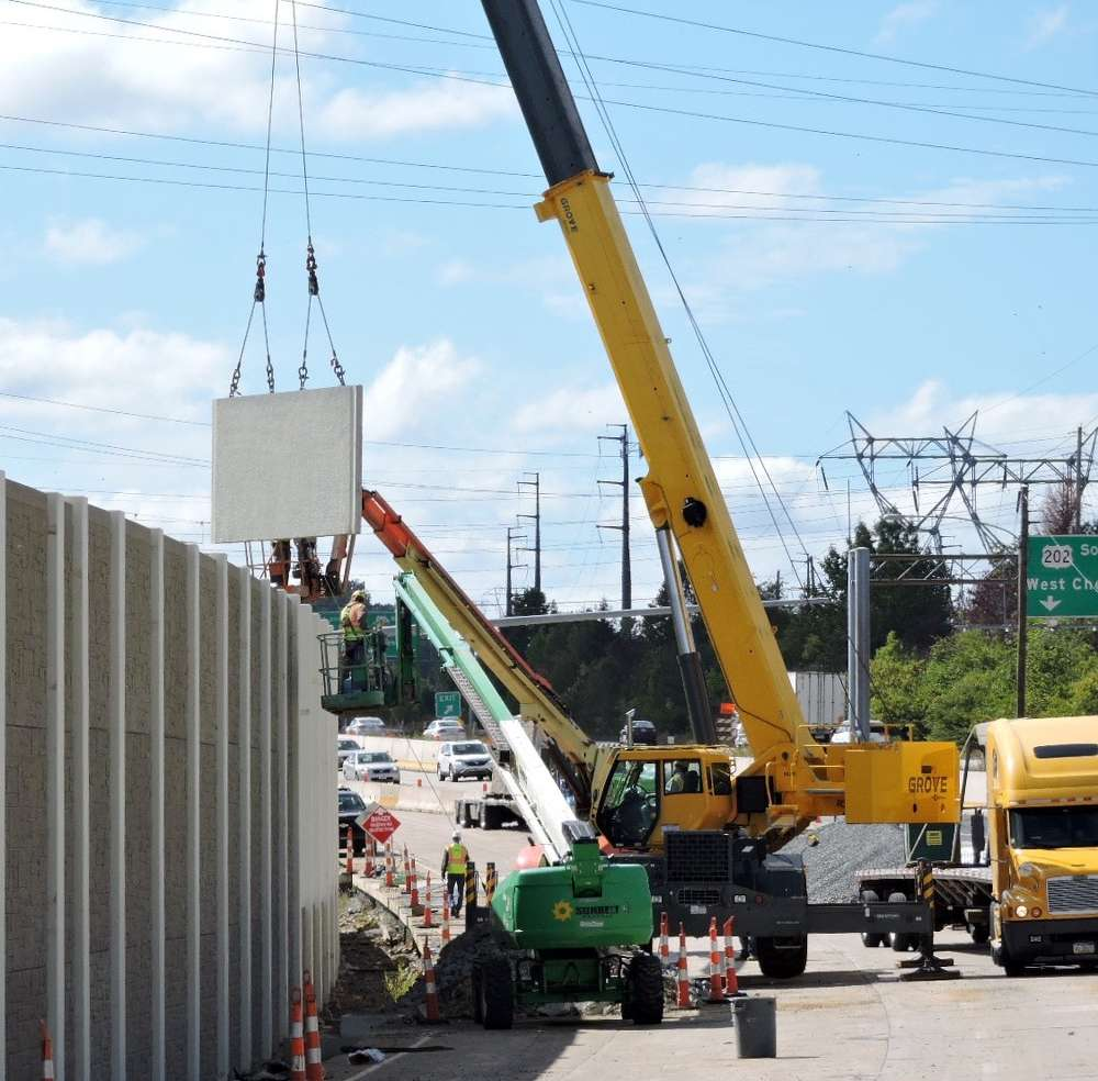 PennDOT photo.  The barriers were prefabricated and were installed as delivered.