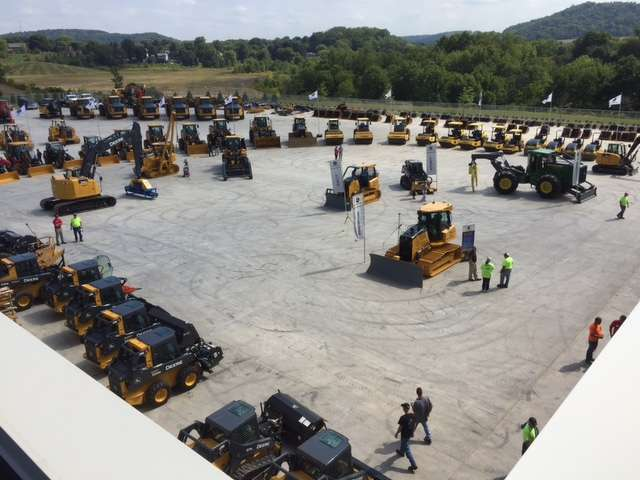 A great assortment of machinery was on display in Murphy Tractor's new equipment yard.
