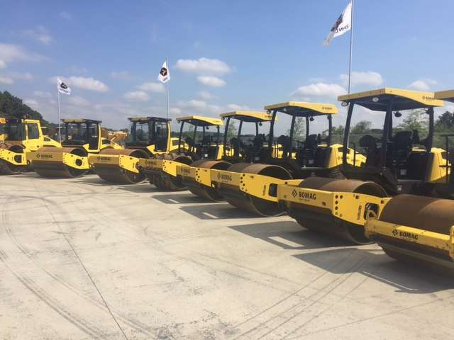 Bomag rollers are available to buy or rent at the Harmony, Pa., store.