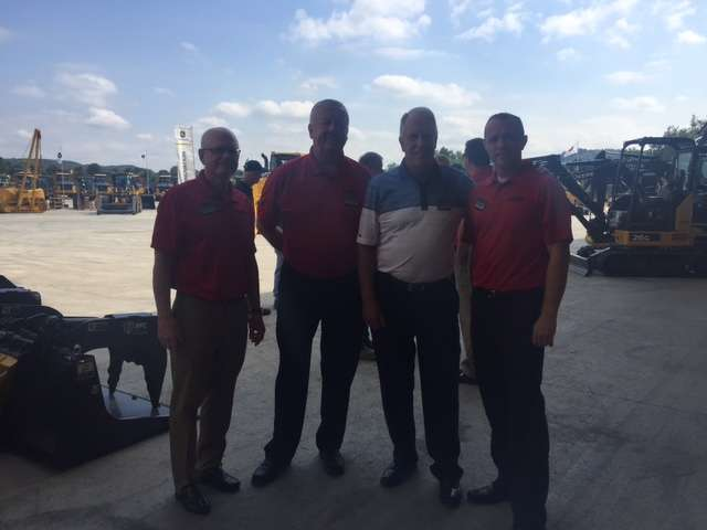 (L-R) are Mike Slinger, region director, Midwest; Rodney Young, CFO; Tom Udland, president; and Rich Fawson, general manager, product support, all of Murphy Tractor.