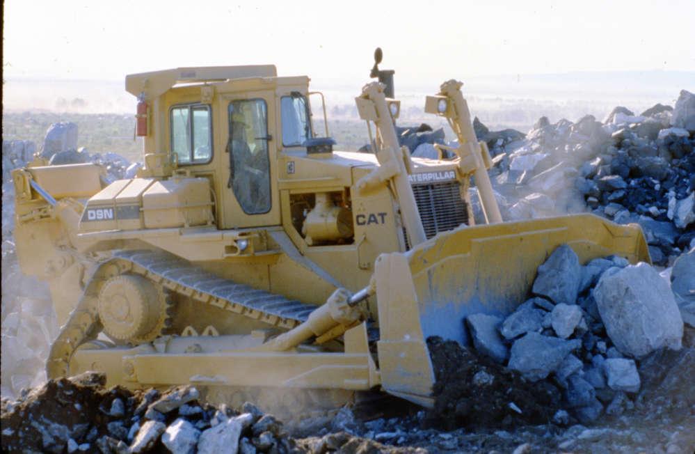 Caterpillar photo. Caterpillar introduced the D9N crawler tractor in 1986.