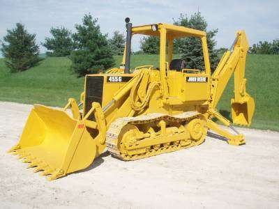 Ritchie Bros. Auctioneers archive photo. John Deere 455G crawler loader