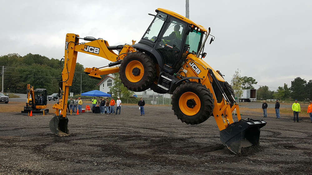 JCB's Dancing Diggers demonstration was front and center at the event, showing the strength and agility of JCB's backhoes.