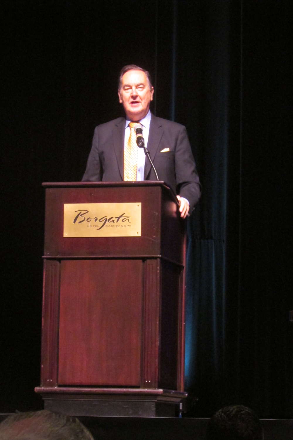 Cal Thomas, syndicated conservative political columnist and analyst, addresses UTCA attendees during the Keynote luncheon.