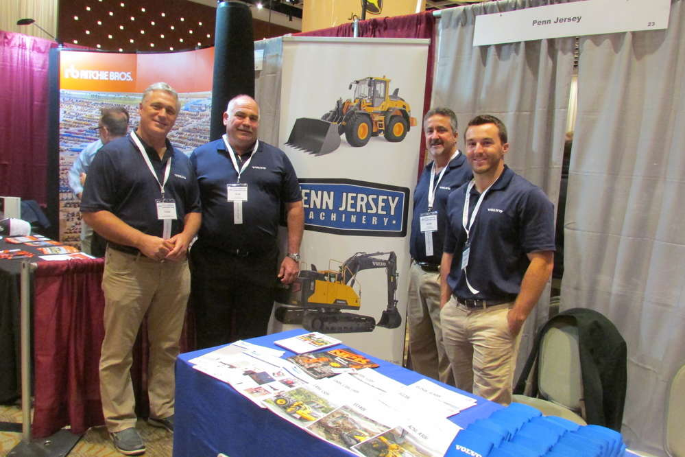 Penn Jersey Machinery was well represented at the UTCA show (L-R) by Todd Ewing, Bob Perusini Jr., John Jaen and Michael Douglas.