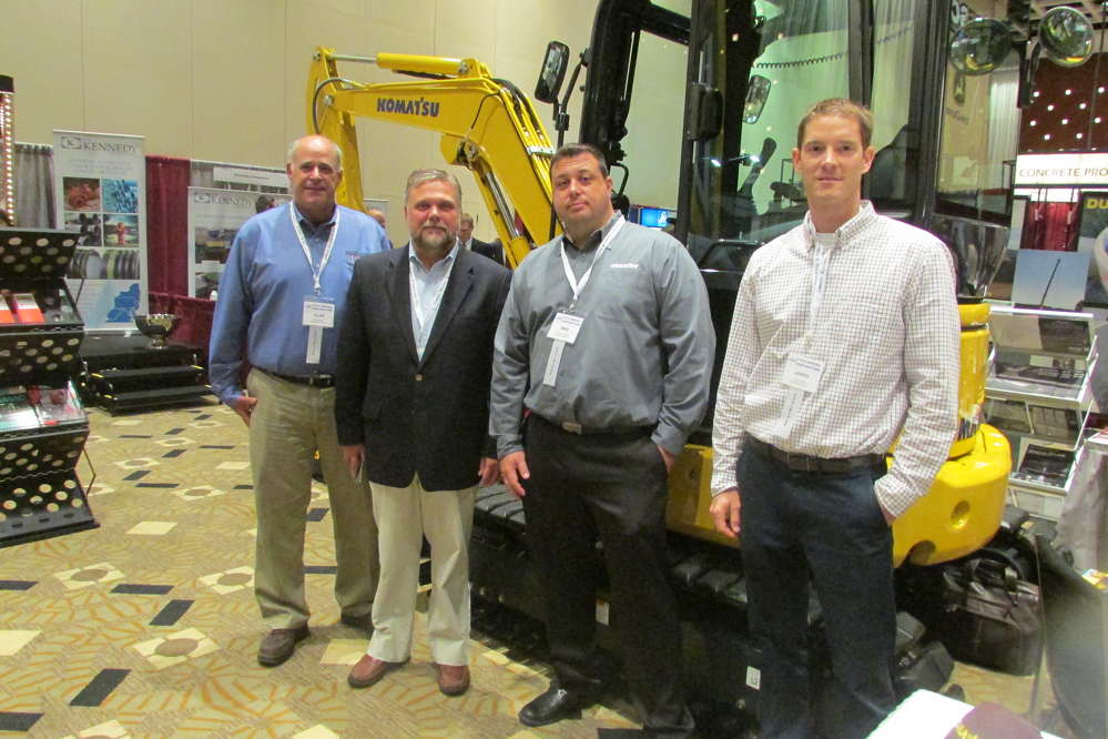 Binder Machinery Company of South Plainfield, N.J., has been an exhibitor at the UTCA show for many, many years. (L-R) are Alan Binder, executive vice president; Brendan Binder, president and COO; Michael Finnegan, technical solutions expert; and Jared Nutter, account manager, all of Binder Machinery.